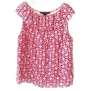 Marc By Marc Jacobs Floral Tiered Silk Top Large